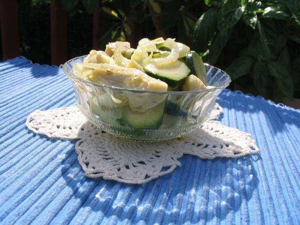 Marinated Artichoke With Zucchini and Onion