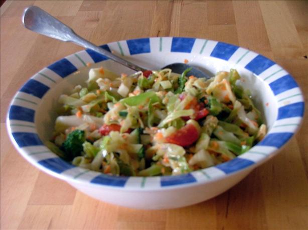 Springtime Vegetable Coleslaw