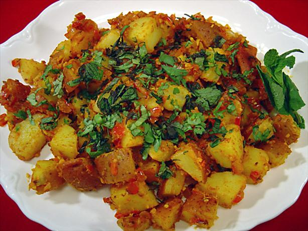 Indian-Style Potatoes - Khatta Aloo