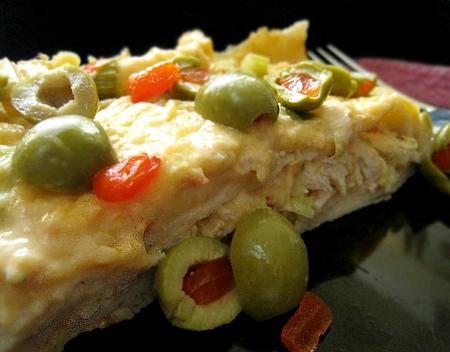 Creamy Chicken Enchilada Casserole