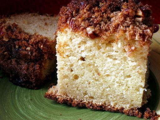 Quick Pecan Sour Cream Coffee Cake