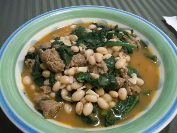 White Beans, Sausage, & Kale Stew