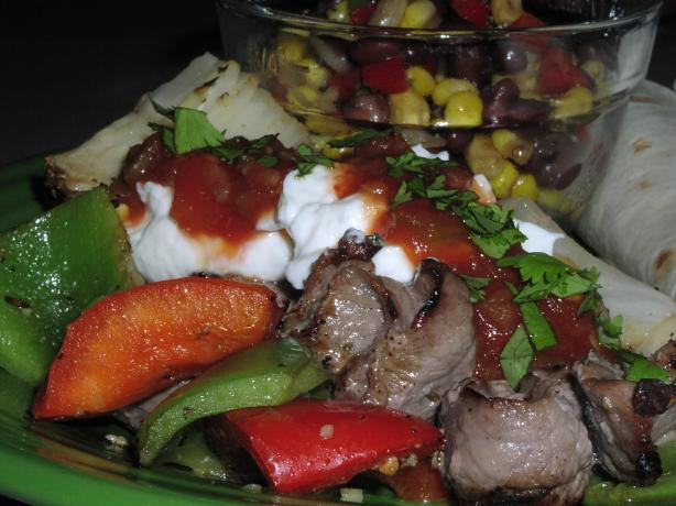 Cooking Light Beef Fajitas