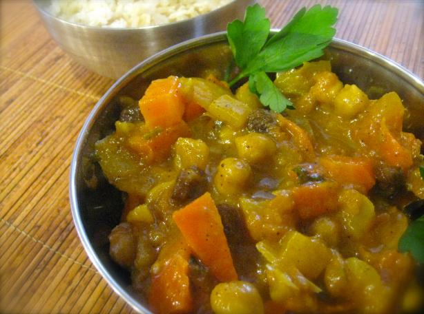 Sweet Savory Chick Pea Curry