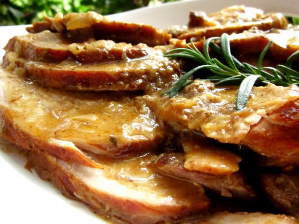 Smothered Pork Roast over Rice