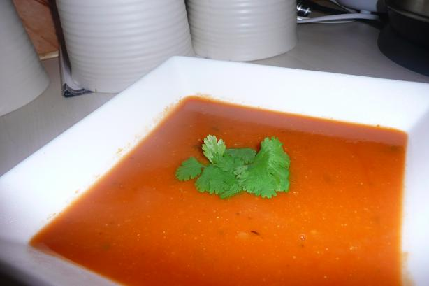 Rustic Red Lentil Soup (Mahluta Corbasi)