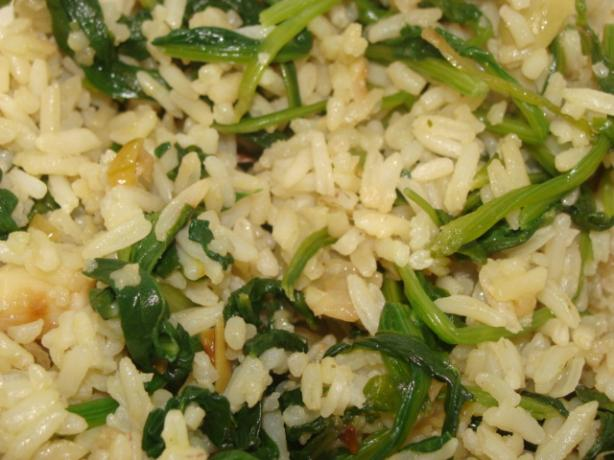 Spinach Rice -- Spanakorizo