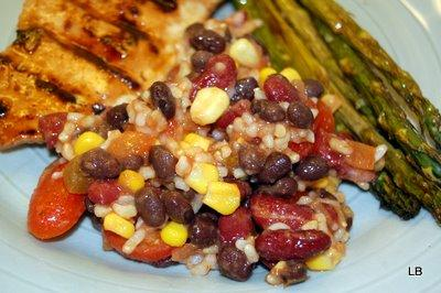 Mexican Bean and Corn Rice Salad