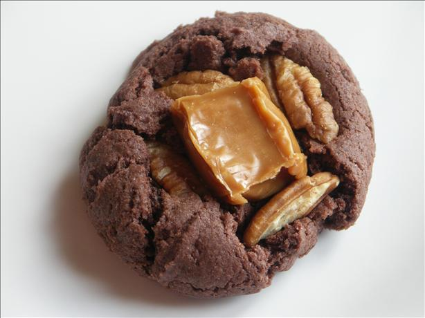 Caramel Nut Brownie Cookies