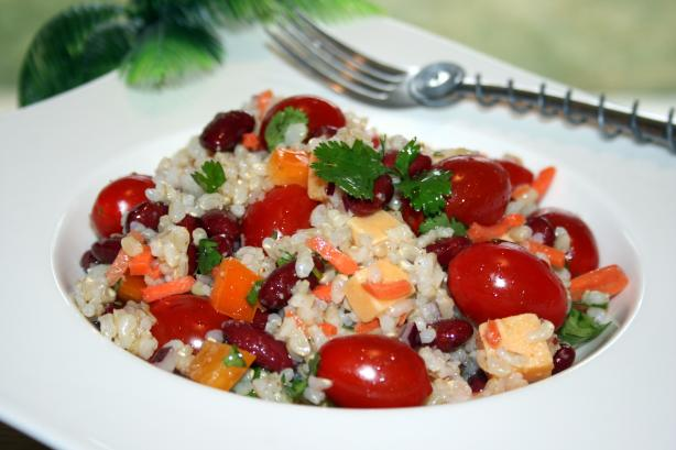Confetti Bean and Rice Salad