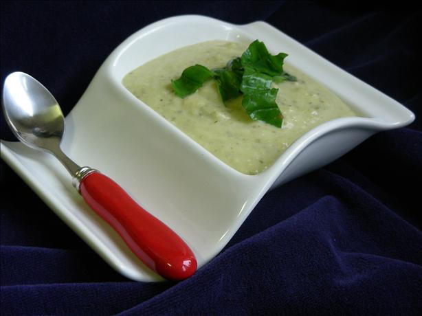 Courgette, Basil and Brie Cheese Soup