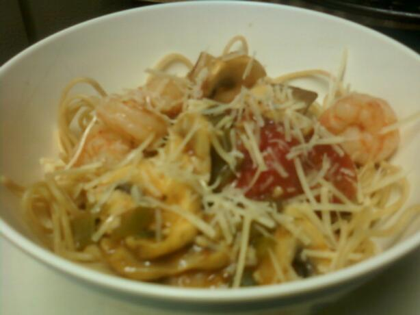 Linguine With Garlic Shrimp