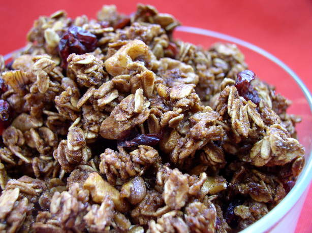 Cranberry Maple Walnut Granola