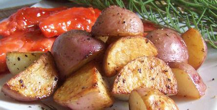 Crispy Roasted Rosemary Potatoes