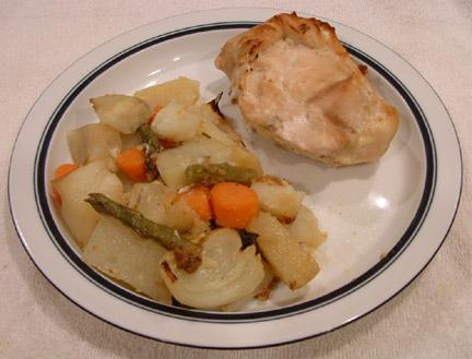 Mustard Roasted Chicken and Vegetables