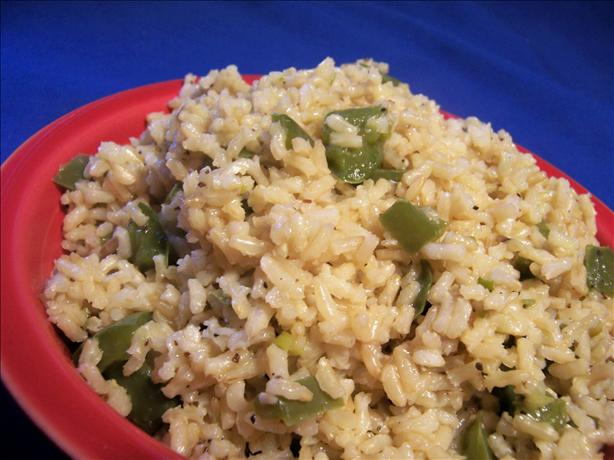 Green Pepper Brown Rice