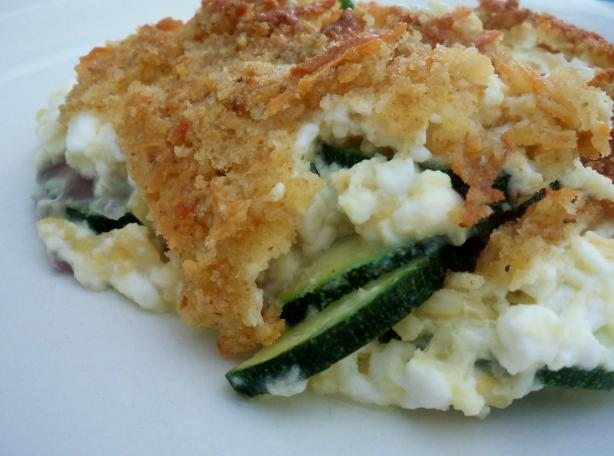 Zucchini/Cottage Cheese Casserole