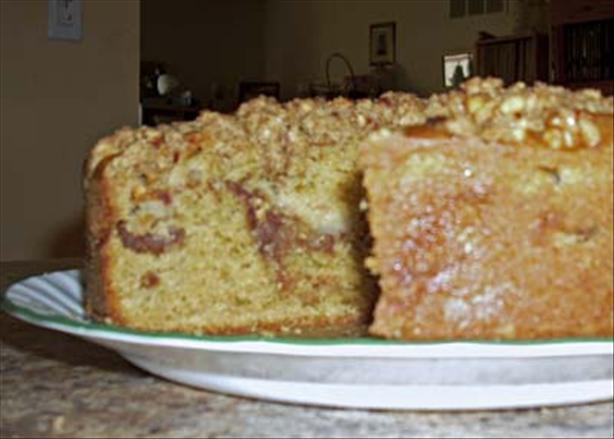 Walnut-Pear Sour Cream Coffee Cake