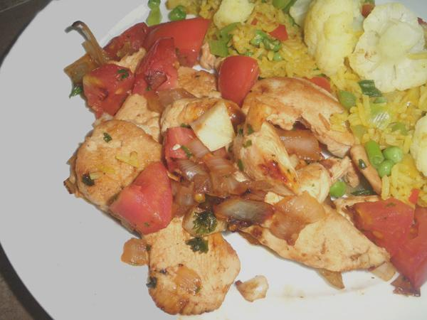 Chicken Sauté With White Wine and Tomatoes