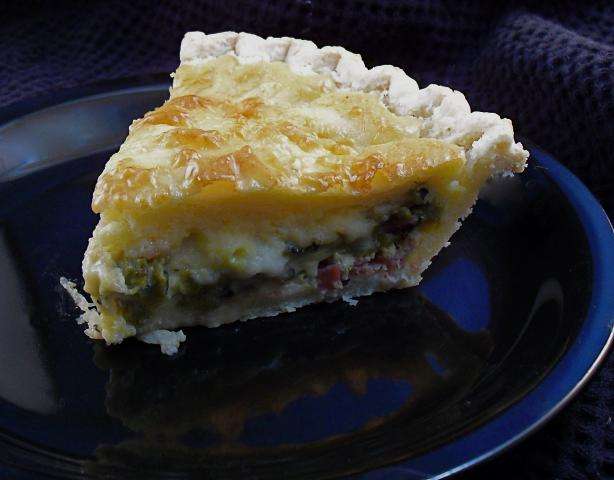 Southwestern Green Chili Quiche