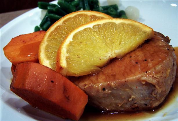 Orange Pork Chops for 2