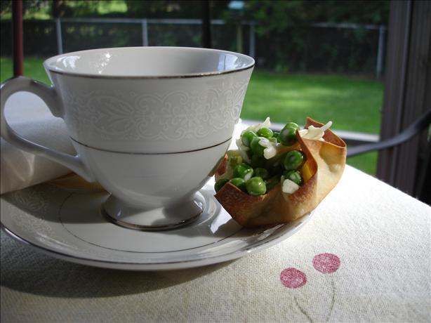 Dainty Pea Salad Cups