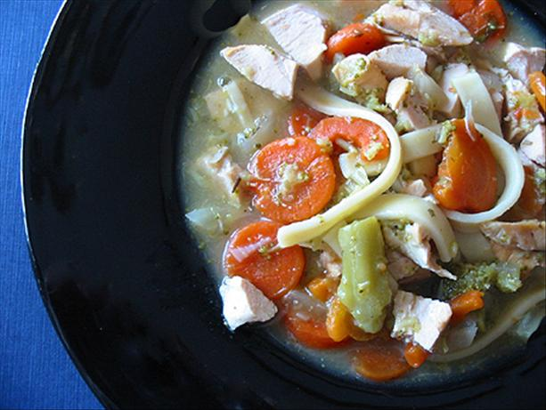 Crocked Chicken Noodle Stoup