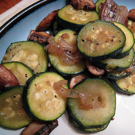 Sauteed Zucchini With Mushrooms for Two