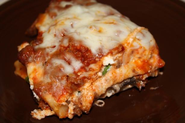 Mushroom & Veggie Sausage Lasagna