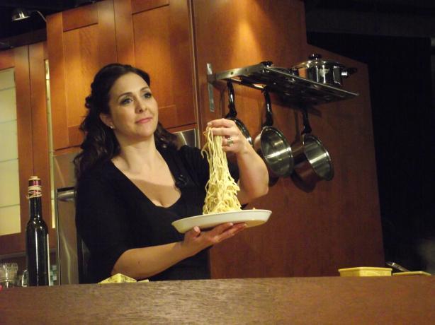 Four Cheese Fettuccine Alfredo With Pancetta, & Prosciutto