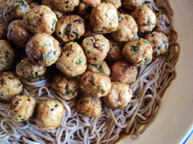 Asian-Inspired Meatballs and Spaghetti