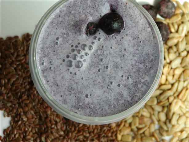 Blueberry and Flax Milkshake
