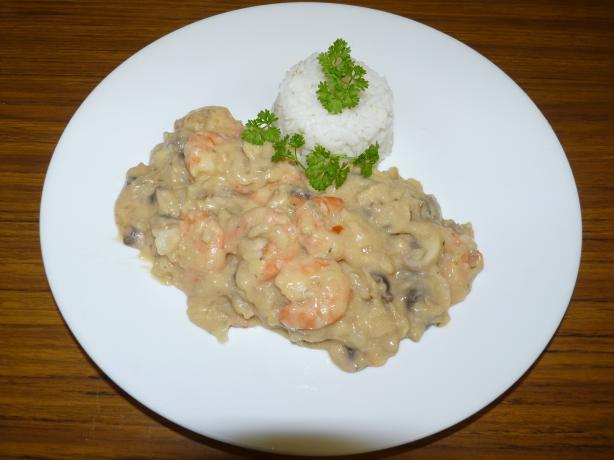 Shrimp-Mushroom Mornay