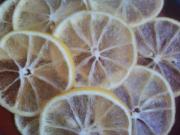 Oven Candied Lemon Slices