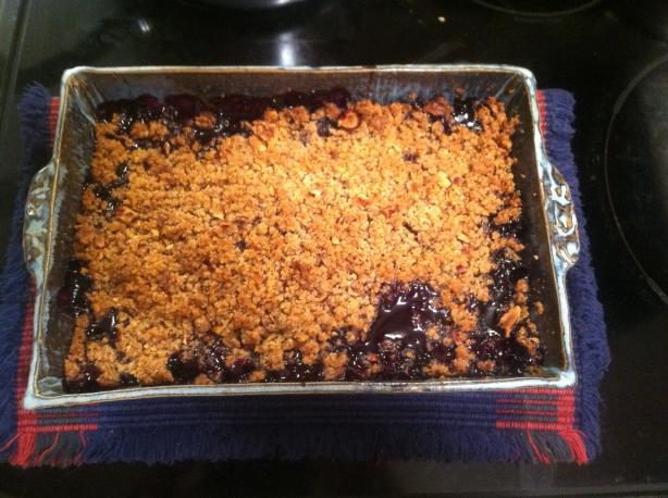 Blueberry Hazelnut Crisp