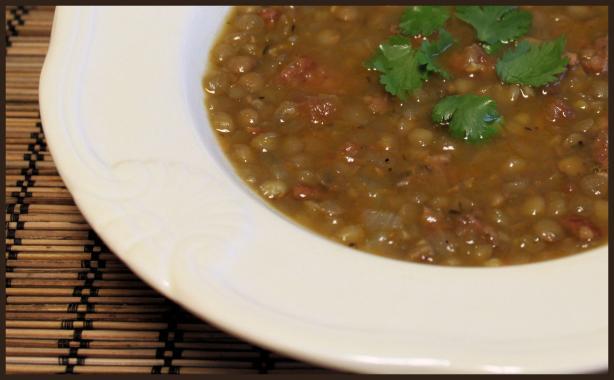 Carrabba's Spicy Sausage Lentil Soup -Clone