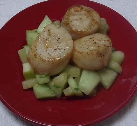 Scallops with Fruit Salsa