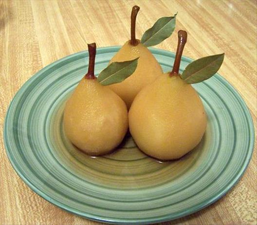 Poached Pears in Sauternes