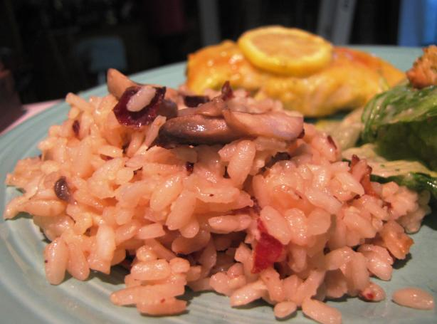 Lemon Risotto With Bacon & Mushroom