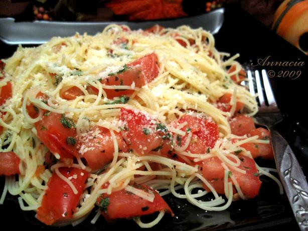 Tomato-Garlic Angel Hair