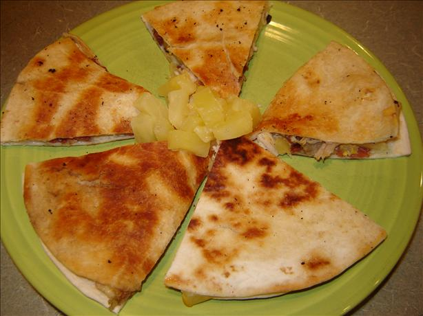 Quick Caribbean Quesadillas