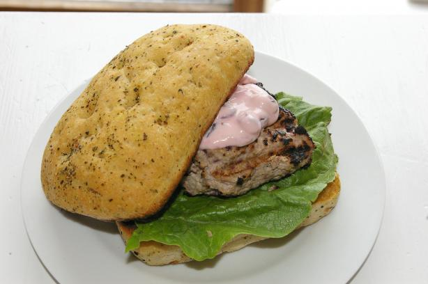 Cranberry Bog Turkey Burgers