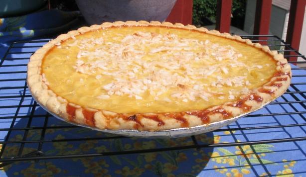 Pina Colada Custard Pie- Virgin, No Alcohol