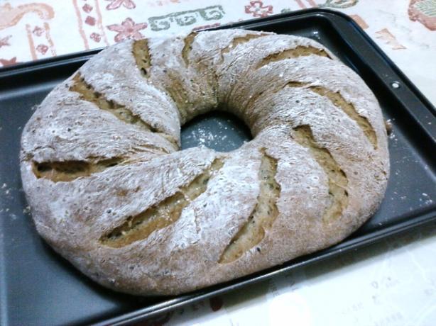 Quick Sesame Sourdough Bread