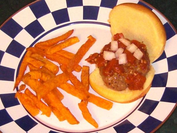 Mini Chipotle Burgers With Fire Roasted Garlic Catsup