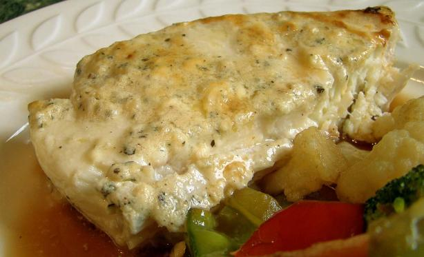 Gorgonzola Halibut