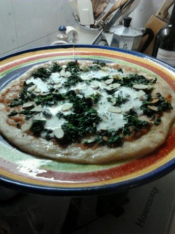 Digest Diet: Pizza With Wilted Greens, Ricotta and Almonds