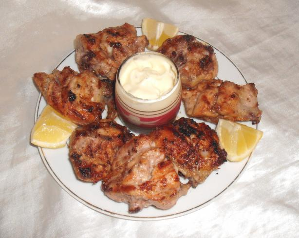 Farrouj Meshwi - Lebanese Garlic Chicken