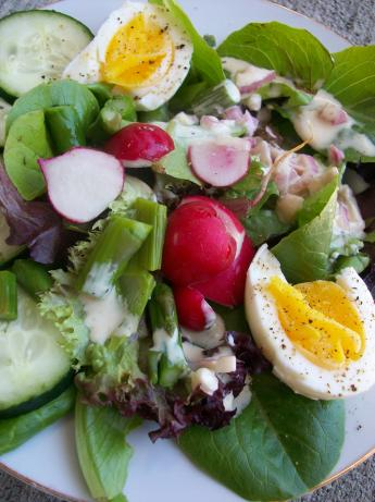 Spring Salad With Buttermilk Cream Dressing