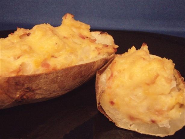 Twice Baked Caesar Potatoes